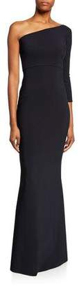Chiara Boni Hedval One-Sleeve Column Gown