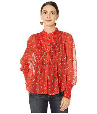 Free People Flowers in December Blouse