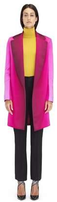 Lanvin Krista Kim Print Leather Satin Coat