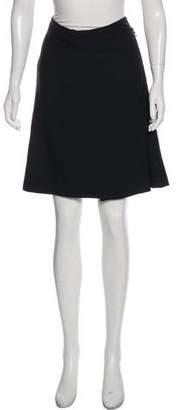 Lanvin Wool A-Line Skirt