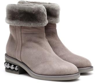 Nicholas Kirkwood Casati 35mm shearling ankle boots