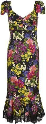 Dolce & Gabbana Floral Fishtail Dress