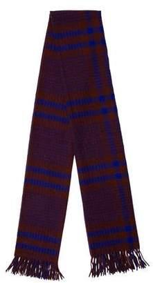 Acne Studios Wool Plaid Scarf
