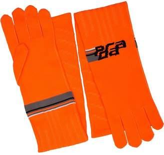 Prada logo print gloves