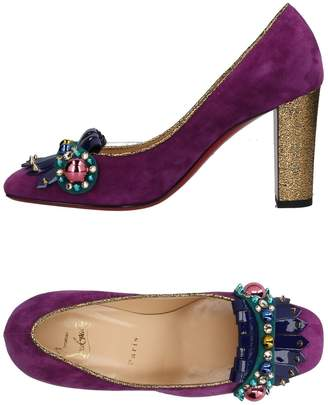 louboutin Loafer Purple