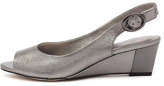 Django & Juliette New Raite Pewter Leather Pewter Womens Shoes Dress