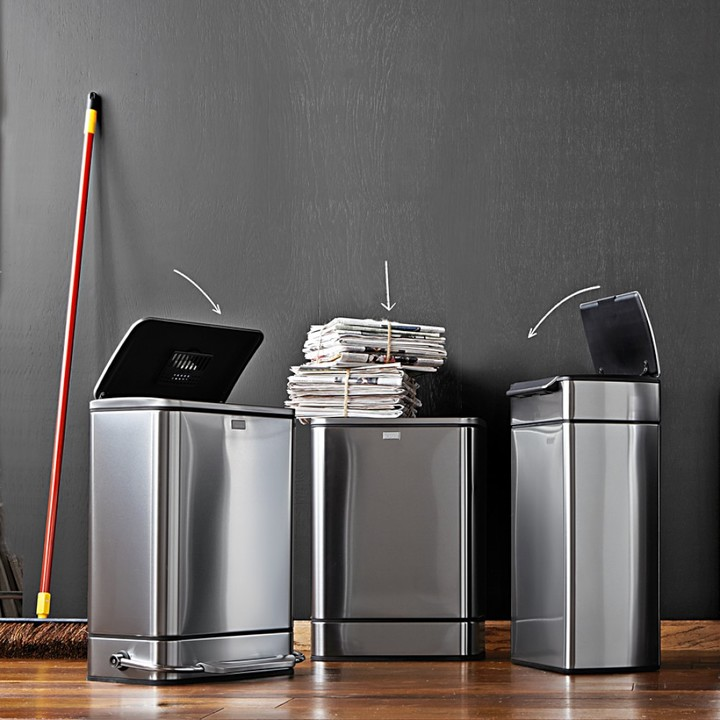 Williams-Sonoma Williams Sonoma simplehumanTM; Stainless-Steel Semi-Round Step Trash Can