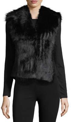 Love Token Faux-Fur Open-Front Vest