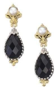 Konstantino Nykta Onyx& Pearl Teardrop Earrings