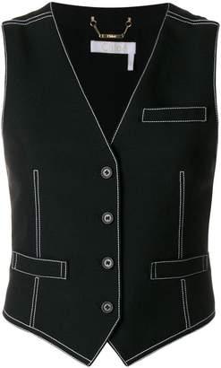 Chloé contrast stitching waistcoat