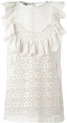 Stella McCartney flounce sleeveless blouse