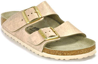 Birkenstock Arizona 1008800 - Metallic Rose Leather Slide