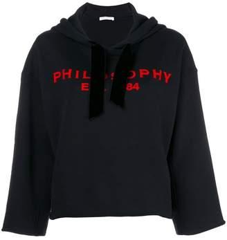 Philosophy di Lorenzo Serafini cropped logo hoodie