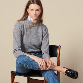 Sandro Sweater With Lace Collar