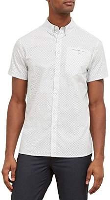 Kenneth Cole New York Men's Short Sleeve Dot Print Shirt