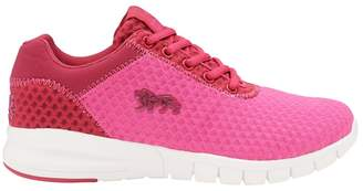 Lonsdale London Pink & Beetroot 'Tydro' Ladies Lace Up Trainers