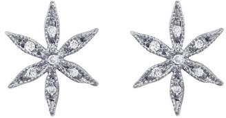 Cathy Waterman Diamond Star Flower Stud Earrings