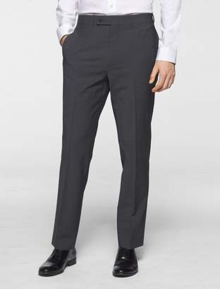 Calvin Klein body slim fit grey chambray suit pants