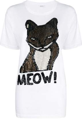 P.A.R.O.S.H. sequin embellished cat T-shirt