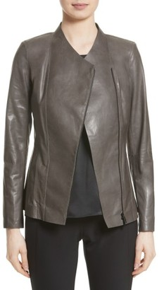 Women's Lafayette 148 New York Austin Perforated Lambskin Leather Jacket $998 thestylecure.com