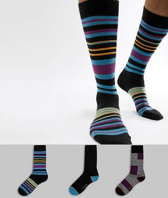 Ted Baker Socks Gift Set 3 Pack with Stripe