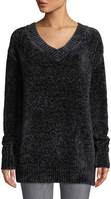 Dex Chenille V-Neck Long Sleeve Sweater Tunic