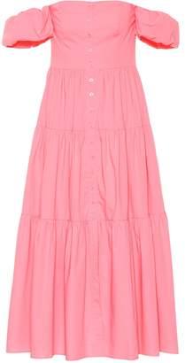 STAUD Exclusive to Mytheresa Elio stretch-cotton midi dress