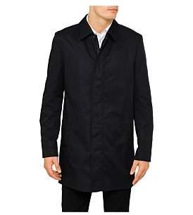 HUGO BOSS 4B Cotton/Nylon Stud Zip Detail Raincoat