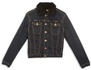 Hudson Boys' Dante Denim Jacket with Faux-Shearling Collar - Little Kid