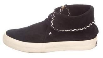 Visvim Suede High-Top Sneakers