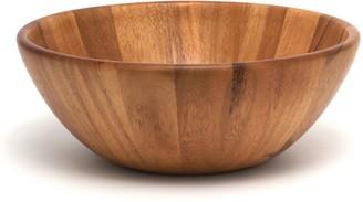 Lipper Acacia Round Flair Salad Bowl