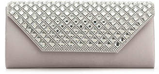 Women's Tonal Crystal Clutch -Silver Metallic $45 thestylecure.com