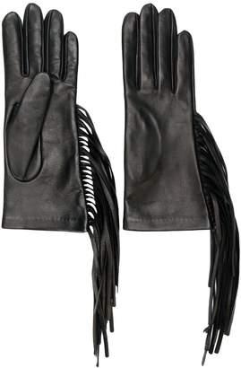 Manokhi fringed fitted gloves