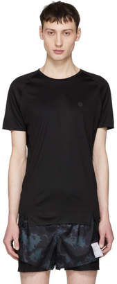Isaora Black Quick Dry Welded Raglan T-Shirt
