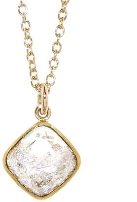 Moritz Glik Floating Diamonds Square Pendant Necklace
