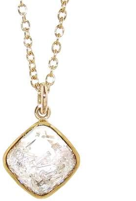 Moritz Glik Floating Diamonds Square Pendant Necklace