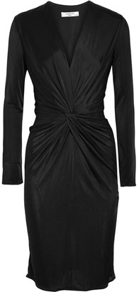 Lanvin - Twist-front Jersey Dress - Black $1,595 thestylecure.com