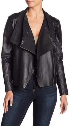 Muu Baa Muubaa Vila Cropped Leather Biker Jacket