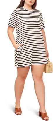 Reformation Charli Ribbed T-Shirt Dress