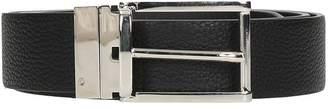 Jil Sander Black Leather Reversible Belt