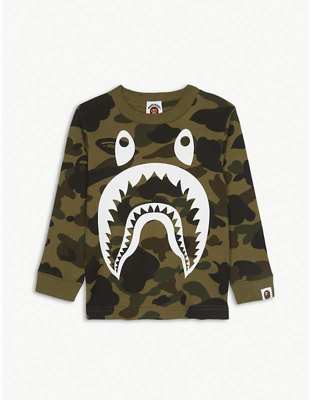 Shark camouflage cotton T-shirt 4-8 years