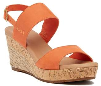 UGG Elena Platform Leather Wedge Sandal