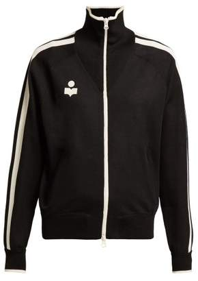 Etoile Isabel Marant Darcy High Neck Zip Through Track Jacket - Womens - Black