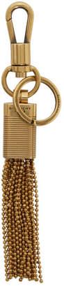 Givenchy Gold GV3 Tassel Keychain