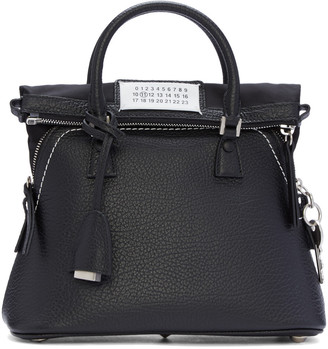 Maison Margiela Black Grained Leather Bag $1,975 thestylecure.com