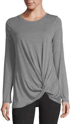 Xersion Long Sleeve Crew Neck T-Shirt-Womens