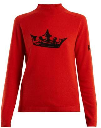 Bella Freud Crown Cashmere Sweater - Womens - Red