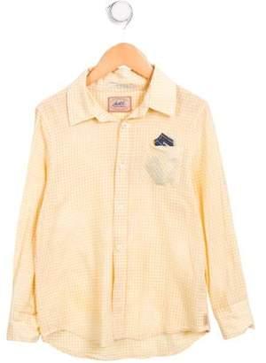 Scotch & Soda Boys' Long Sleeve Gingham Shirt