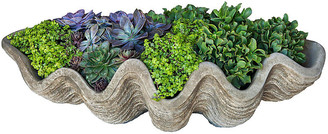 "Campania International 32"" South Seas Shell Outdoor Planter - Gray"