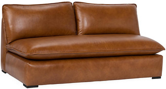 Maddox Armless Sofa - Caramel Leather - Community